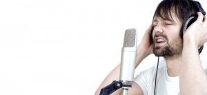 Male-Singer-with-Headphones