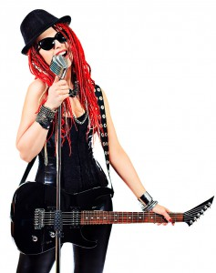 Rock Chick with Red Hair