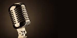 Old-Fashioned-Microphone-Dark-Background