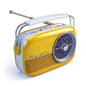 Yellow Retro Radio